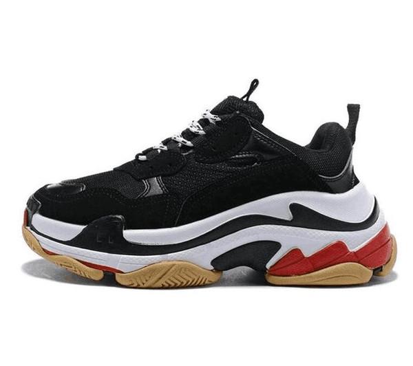 Tamanho 36-45 100% Moda Paris Sapatos Casuais 17FW Triplo-S Pai para Mulheres Dos Homens bege Preto Ceahp Sports Designer Triplo S Sapatos Tamanho 36-45