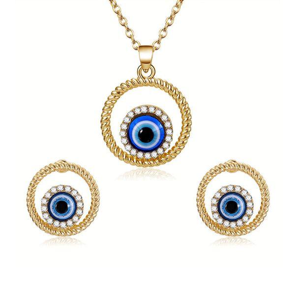 Fashion fish eyes collier boucles d'oreilles bijoux ensembles 2 pièces ensembles Accessoires de peinture à l'huile pour femmes meilleur cadeau Accessoires de peinture à l'huile