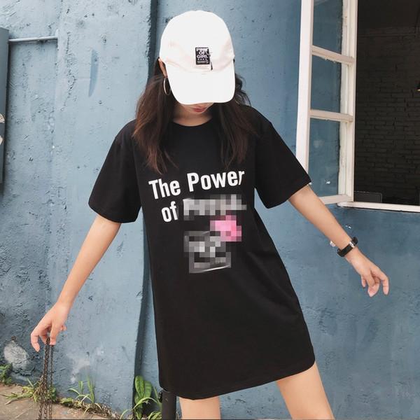 2019 хип-хоп с коротким рукавом Женская футболка лето 2018 Новый хлопок свободная футболка социальная свинья длинные супер популярные футболки оптом