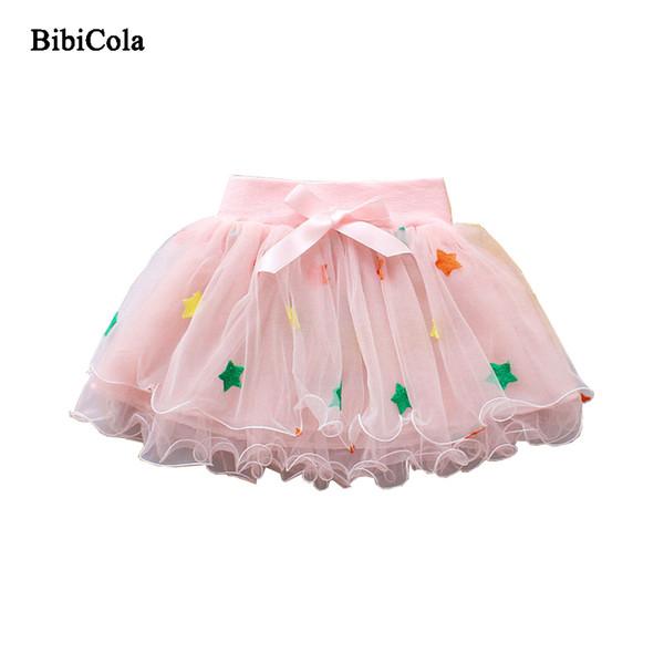 208526b6d57c3 2019 2017 Gold Star Sequin Polka Dot Skirts Baby Tutu Skirt Girls ...
