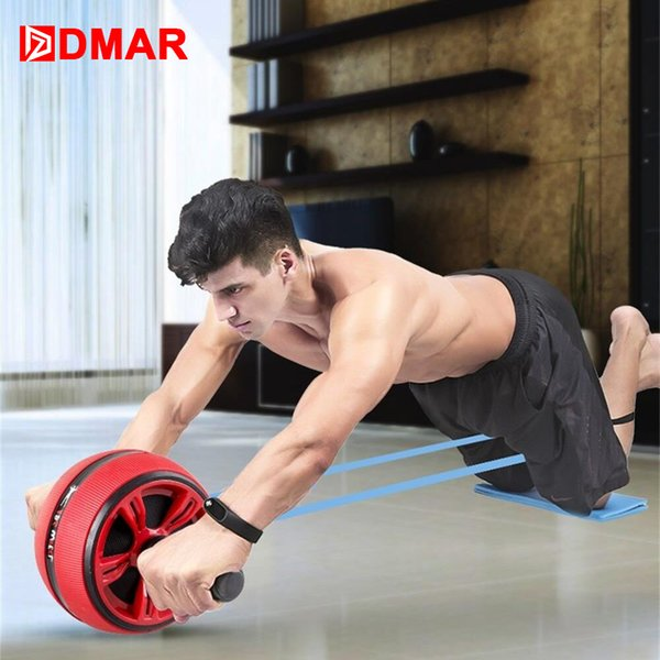 Dmar Silent Tpr Abdominal Wheel Roller Trainer Fitness Equipment Gym Home Exercise Body Building Ab Roller Belly Core Trainer T190720