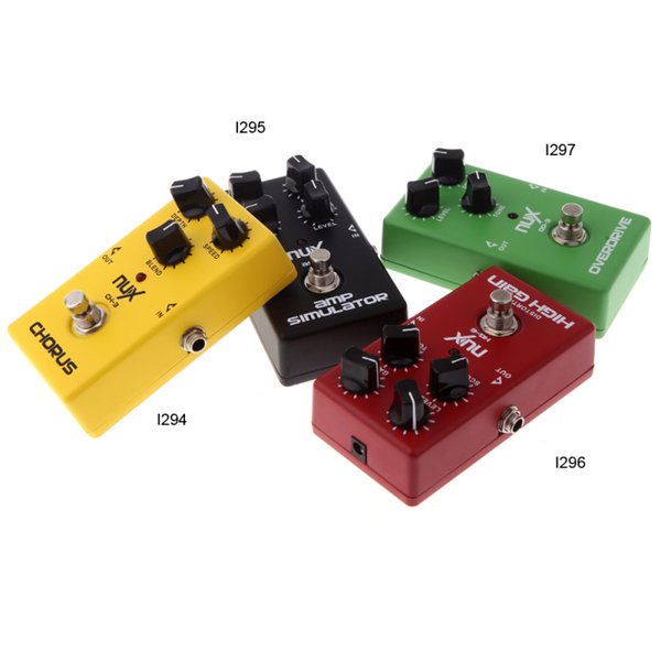 NUX Guitar Pedal 4 Effects Chorus Low Noise/ Overdrive/ High Gain/ Simulator Guitar Effect Pedal guitars electric