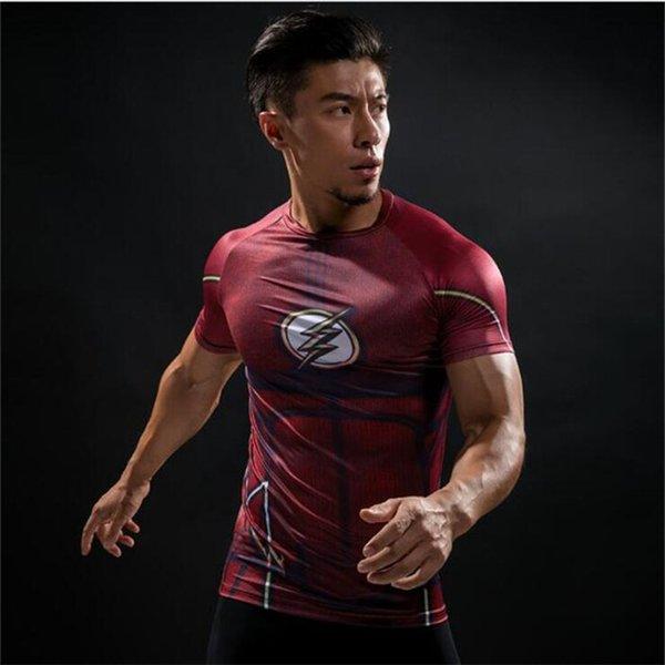 Free Shipping Short Sleeve 3D T Shirt Men T-Shirt Male Crossfit Tee Captain America t shirt Men Fitness Compression Shirt 4XL J12