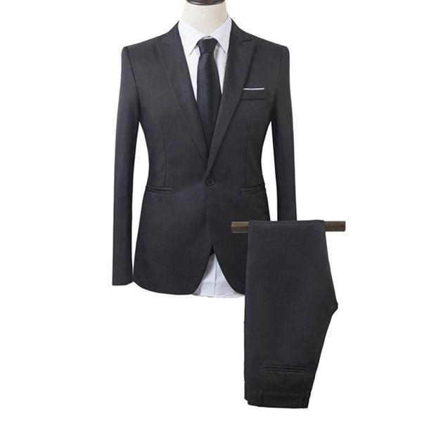 Men's Business Wedding Party Leisure Casual Slim Suit Sets Top Pants Vest Suits for Party Formal Occasion