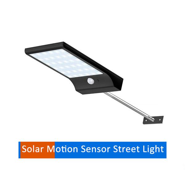 Aluminum pole Solar Light 36/48 LED garden Wall street Lamp PIR Sensor Motion 3 Mode Emergency security lights spot floodlights for yard gar