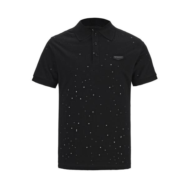 2019 Luxe Italie Tee T-Shirt Designer Polo Shirts High Street Broderies Jarretelles De Couture Bee Impression Vêtements Mens Marque Polo Shirt