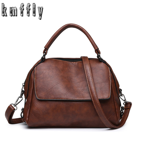 2019 Fashion Vintage PU Leather Women Bag Large Capacity Handbags Designer Famous Brand Messenger Bag For Women Sac Main Ladies Hand Bags