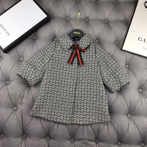 Great_baby 2019 İlkbahar Ve Sonbahar Yeni Desen Koreli Çocuklar Lüks Tasarımcı Rüzgarlık Bebek Küçük Gevşek Ceket Hırka ceketler 0818