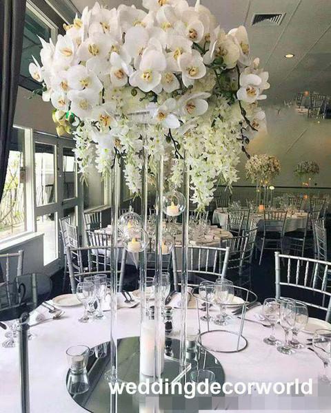 New design acrylic flower vase wedding flower arrangment stand clear display rack decor1136