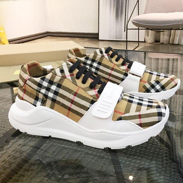 Mode sneakers herren große größe atmungsaktiv sport turnschuhe Herren Sportschuhe Vintage Check Baumwolle Sneaker Luxus Herren Schuhe Casual Style