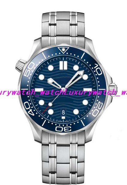 Luxury Watch Mens 21030422003001 DIVER 300M CO-AXIAL MASTER BLUE DIAL MENS WATCH 42mm Automatic Fashion Men's Watches Wristwatch
