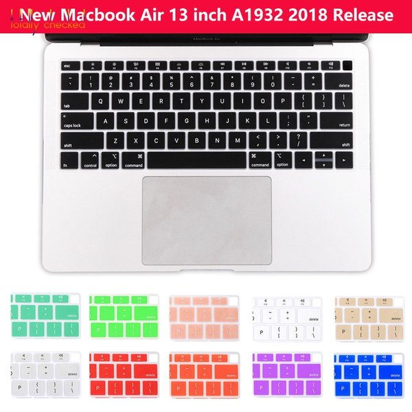 """USA English Silicone keyboard Skin Cover for 2018 macbook """" 13.3 A1932 With Touch ID Protector Macbook Air13 A 1932 2018"""