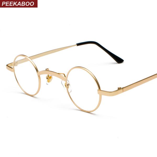 маленькие круглые очки кадры мужчины марочные 2018 года Серебро Золото женщин людей ботаник очки прозрачные линзы защитных очков унисекс