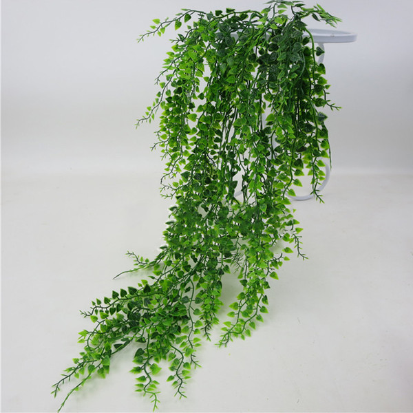 Fake Vine Home Club Decorative Green Office Wall Hanging Artificial Plant Garden Plastic Leaves Bar Living Room DIY