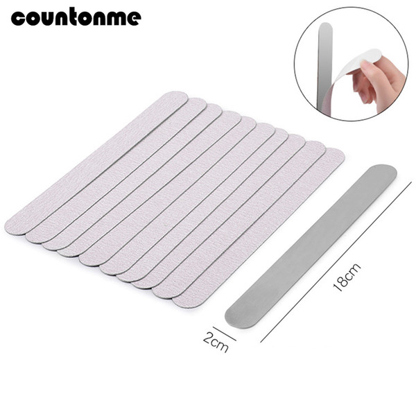 Wholesale sand papers for sale - Group buy Files Buffers Removable Sand Paper Nail File With Metal Handle lime a ongle Grey Double sided Replacement Nail File
