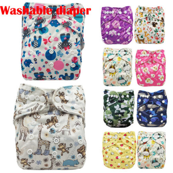 Cloth Diaper Infant Baby Reusable Washable Adjustable Nappies All in One Size Floral Print