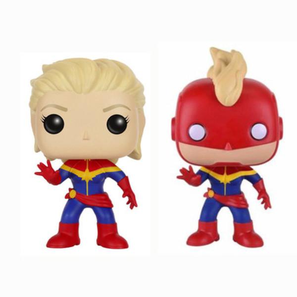 Funko pop capitão marvel mascarado figura de ação de vinil colecionáveis super hero personagens modelo toy action figures para crianças