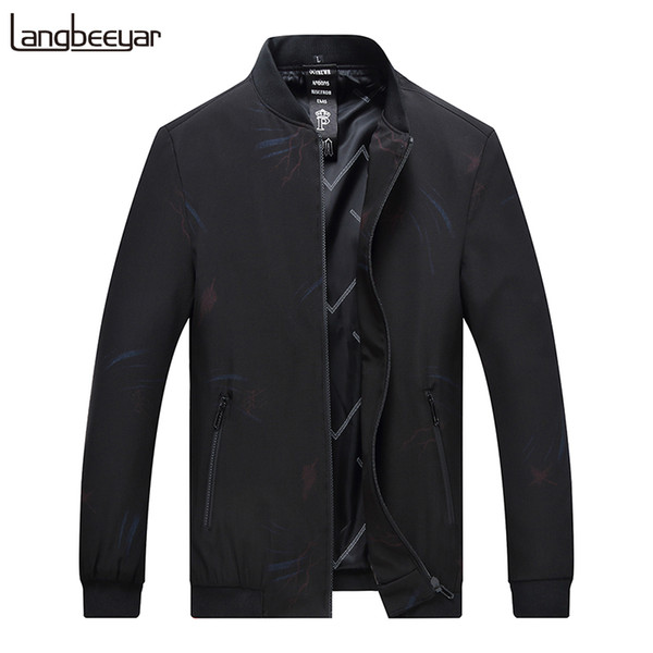 2018 New Fashion Jackets Mens Bomber High Street Trend Windbreaker Overcoat Slim Fit Outerwear Autumn Casual Mens Outfits