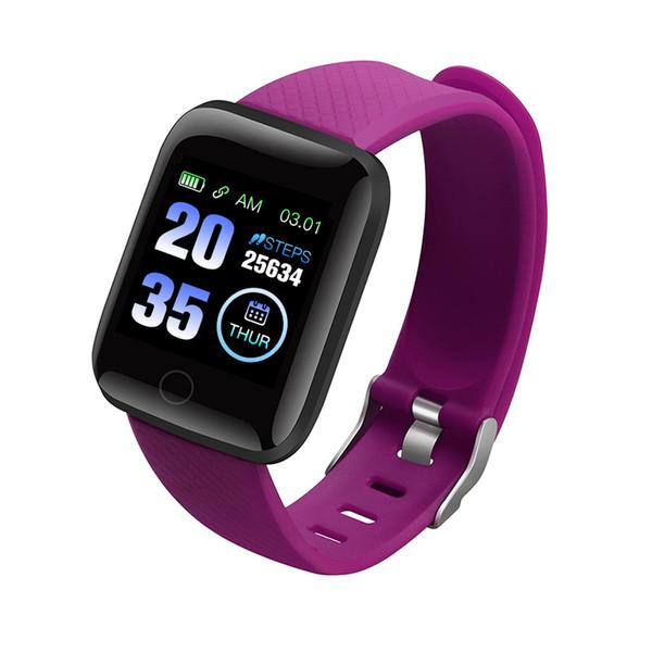 116 Smart Watch Armband Blutdruckmessung Wasserdicht Fitness Tracker Pulsmesser Schrittzähler Smart Band Frauen Männer