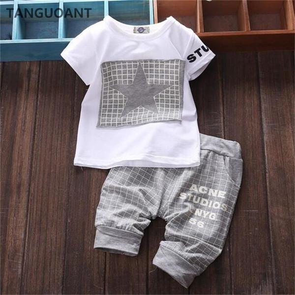 Vente chaude Marque Garçons Vêtements Enfants D'été Garçons Vêtements Bande Dessinée Enfants Garçon Vêtements Set T-shit + Pantalon Coton