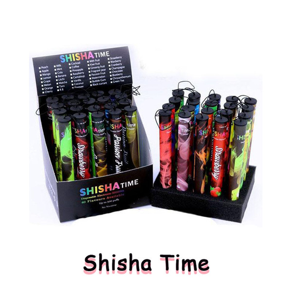 Eshisha Disposable Shisha pen Electronic cigarettes shisha time E cigs 500 puffs 27 type Various Fruit Flavors Hookah pen Free EC020
