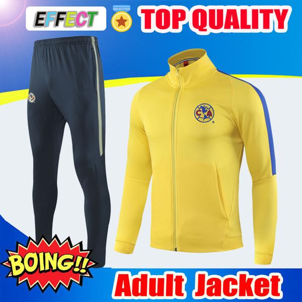 Thailand 2018 2019 Mexico Club America Soccer Jacket Tracksuit 18 19 Club UNAM PUM Football Survetement Camisa de Futebol Sweater Jersey