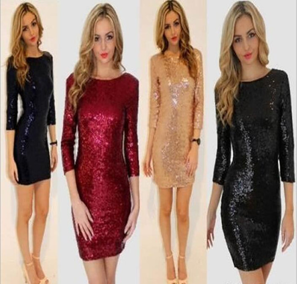 Europe and America high quality women's spring and autumn models sequins perspective revealing backpack hip tight pencil skirt