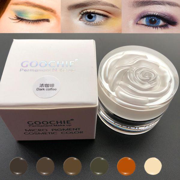 Goochie Original Maquillaje permanente Microblading Pigmento de cejas Tatuaje Pigmento Micro Pigmento 6 colores disponibles Nuevo