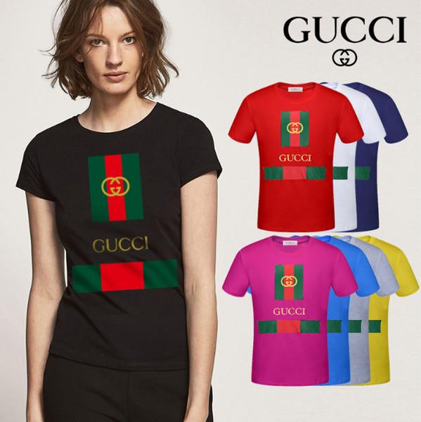 Verão 2018 marca T-shirt das mulheres moda estilo quente simples carta impressão padrão casual manga curta de algodão das mulheres T-shirt
