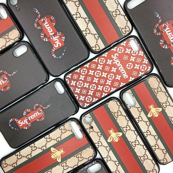 Pour Iphone Xr Xs Max 6 7 8 X Plus De Luxe Snake Bee Marque Téléphone Cas TPU Doux Soulagement Cas de Téléphone portable