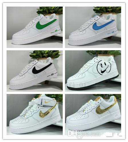 &nbspNIKE AIR FORCE AF1 Smiling face jointly-designed LOW classic fashion sport running LOW brand board shoes Designer Walking Shoes