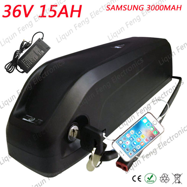 36V 15Ah Hailong battery with 2A charger