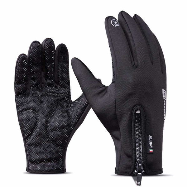 Unisex Fleece Windproof Winter Touchscreen Gloves for SmartPhone Cold Weather in various colros