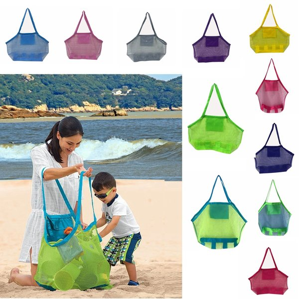 Large Capacity Children beach bags Sand Away Mesh Tote Bag Kids Toys Towels Shell Collect Storage Bags fold shopping handbags AAA2014