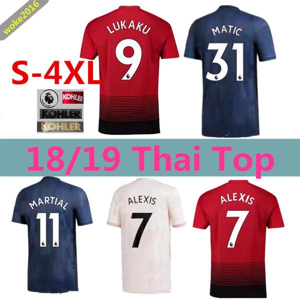 newest 4663e 8b7c8 2018 3XL 4XL 18 19 ALEXIS LUKAKU Manchester United Pink Football Shirt 2018  POGBA 6 RASHFORD UtD Football Shirt MAILLOT DE FOOT UNITED THAILAND Q From  ...
