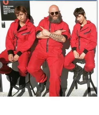 La Casa De Papel Salvador Dali estação três traje vermelho macacões Cosplay Dali Suit dinheiro Heist Hot Filme