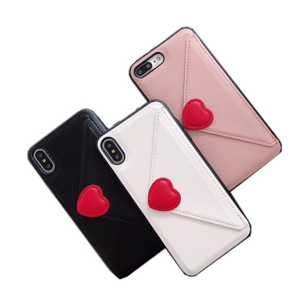 Fashion 3D Love Heart Lip Cat Claw Leather Wallet Cover For iphone xs max xr 7 8 6 plus shell Stand Holder Card Slots Cases