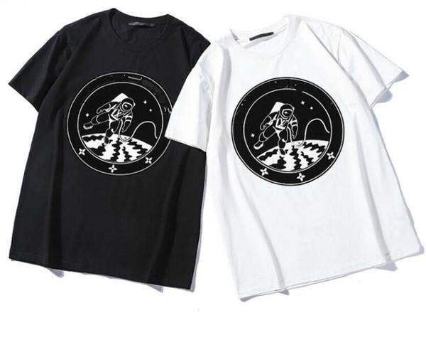 2019 la última marca Space roaming printi t shirts hombres de manga corta Tops para mujeres camiseta hombre ropa de algodón camiseta ocasional ropa femenina