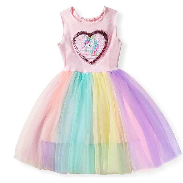 Kids Dresses for Girls Costume Princess Tutu Dress Robe Fille Baby Girl Clothes Summer Children Clothing Girls Rainbow Dress