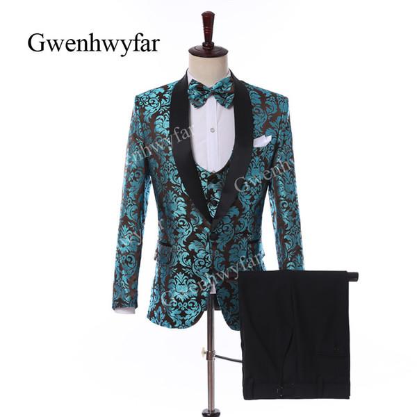 Gwenhwyfar 2019 nouveau style garçons d'honneur châle revers marié smoké 9 styles costumes costumes de mariage bal / dîner meilleur homme blazer (veste + pantalon + gilet)