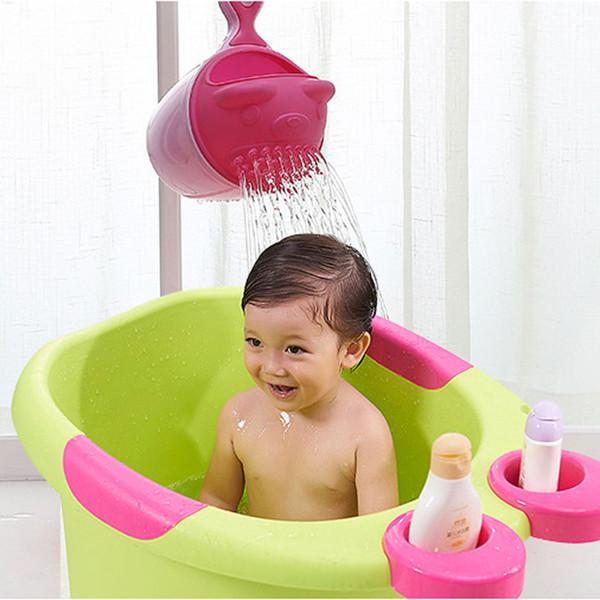 Hot Sale New Cute Baby Toddler Shampoo Cups Children Bathing Bailer Shower Spoons Kids Bath Tool