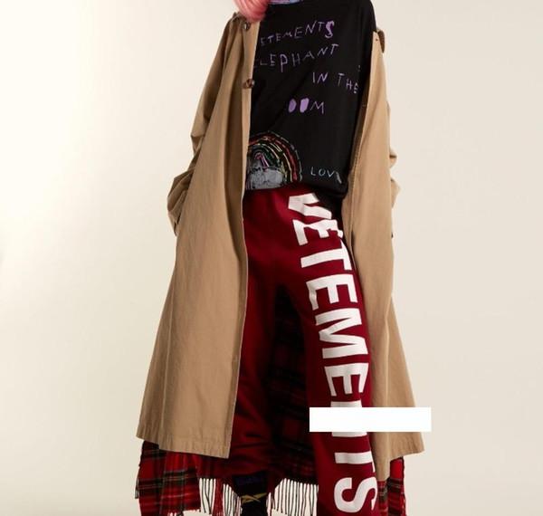 18FW VETEMENT HOSE Vetements Logo Brief Sport Hose Mode für Männer und Frauen-Qualitäts-warme Hosen HFBYKZ08307