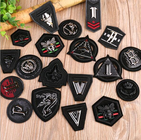 Cool metal skin labeling badge embroidery chapter patch patch stickers bag punk patches