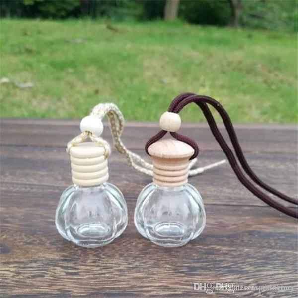 12ML libera pendente dell'automobile attaccatura di vetro della bottiglia di profumo riutilizzabile Imballaggio Bottiglia con tappo in legno 2.019.021,003 mila