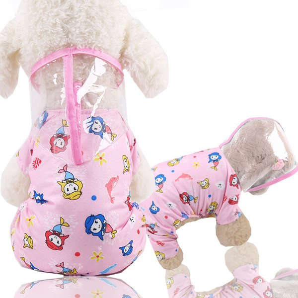 Foraway Waterproof Trasparente Lovely Size Xs To Xxs Disponibile Spedizione gratuita Pet Dog Impermeabile dog raincoat with legs dog raincoat pattern