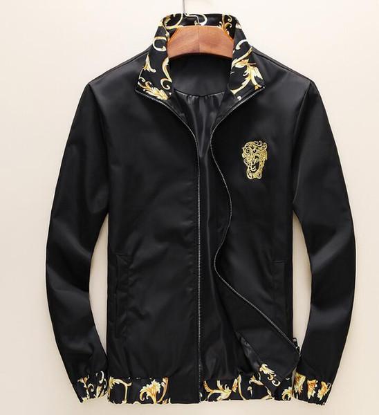 2019 Nueva chaqueta de moda de alta calidad de lujo fina y ligera Casual de alta calidad Slim Mens Designer Jackets Plus M-6XL