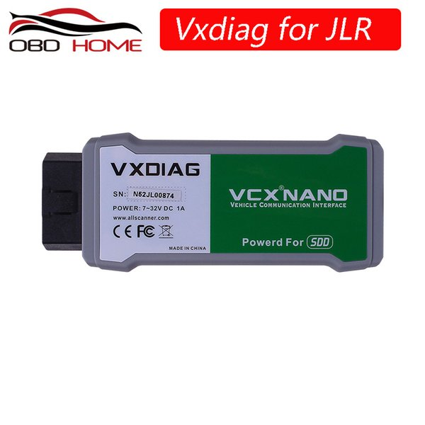 100% Original VXDIAG VCX NANO For LandRover for Jaguar Software SSD V150 VXDIAG VCX NANO Auto Diagnostic Tool Update By CD
