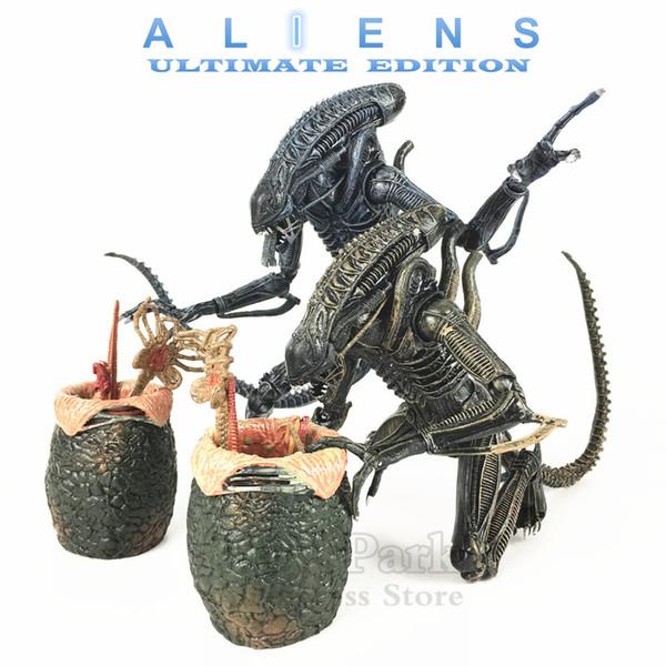 "Kos Neca Aliens 7"" Scale Movie 1986 Ultimate Alien Warrior Classic Action Figure Facehugger Chestburster Egg Xenomorph Doll Toys Y190604"