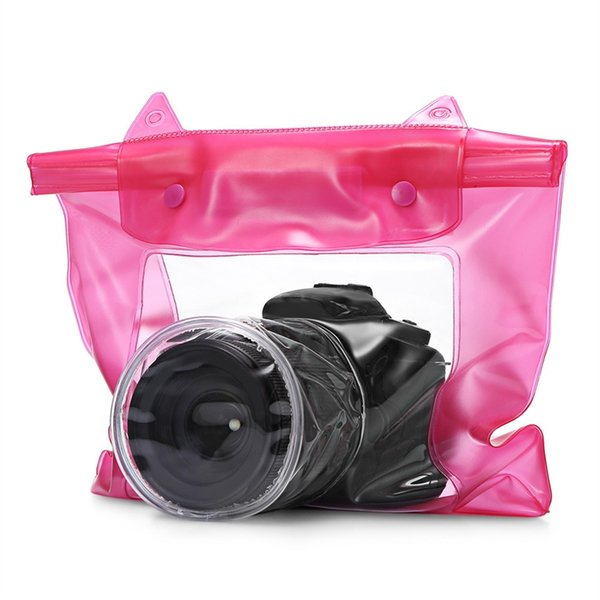Universal Waterproof Camera Case DSLR SLR Camera Underwater Storage Dry Bag Transparent PVC Pouch #234776