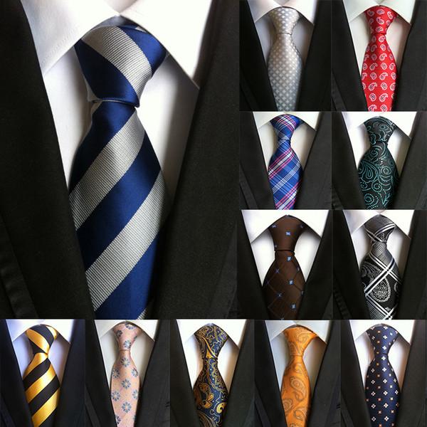 Novos 60 Estilos Paisley Listras Gravatas para Homens Clássicos de Negócios de Alta Trama Densidade Padrão de Flor Gravata de Casamento de Luxo Acessórios